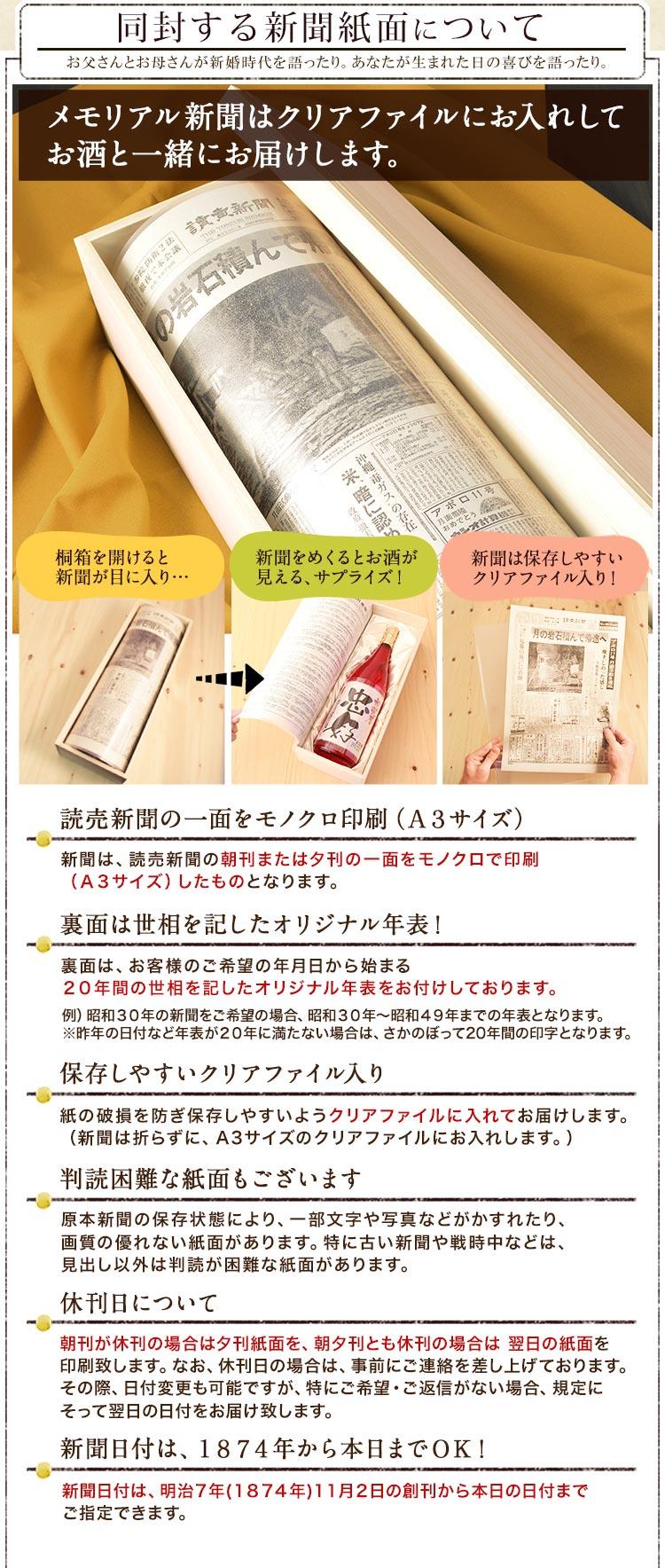 記念日新聞の注意事項