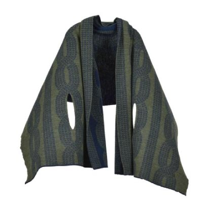 [mino]nico 風を通すざっくり編み ツイード ベージュ